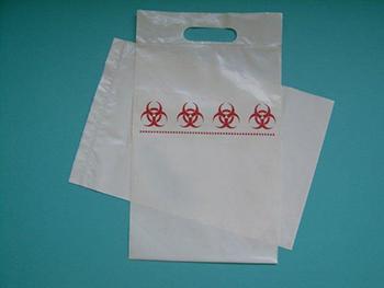 Medische, bedrukte plastic zak met ritssluiting en lus - hersluitbare-plastic-zakje.nl